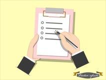 概念列出 免版税图库摄影