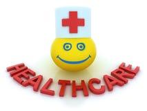 概念医疗保健微笑符号 向量例证