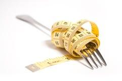 概念叉子评定的磁带 免版税库存照片