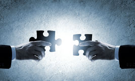 概念另外现有量合伙企业编结难题二 免版税图库摄影