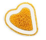 概念吃健康重点意大利面食形状 免版税库存图片