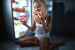 概念吃健康 库存照片