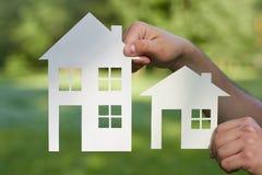 概念图象做您一个房子 免版税库存照片