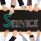 概念图象服务等候人员 免版税库存图片