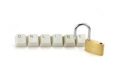 概念在线安全性 免版税库存照片