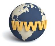 概念地球互联网万维网 库存照片
