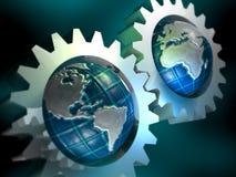 概念地球 库存照片