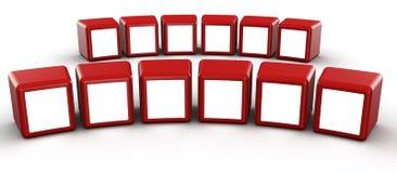 概念多维数据集框架画廊照片红色 库存例证