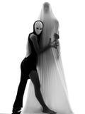 概念夫妇舞蹈演员爱执行者 免版税库存照片