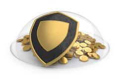 概念定金保护 库存例证
