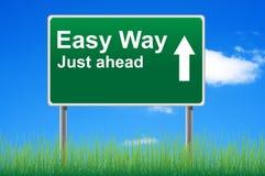 概念容易的路标方式 库存例证