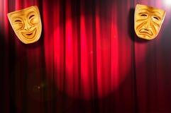 概念屏蔽性能剧院 免版税库存照片