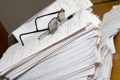 概念延迟文书工作工作 免版税库存图片