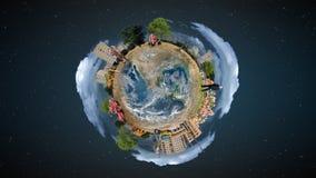 概念微型世界 免版税库存照片