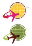 概念徽标旅行向量 库存图片