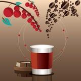 概念性一杯的咖啡食谱 库存图片