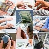 概念性企业的拼贴画 免版税库存照片