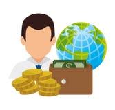 概念性危机经济全球图象猜想世界 免版税库存图片