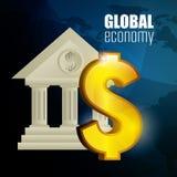 概念性危机经济全球图象猜想世界 库存图片