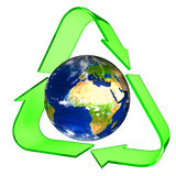 概念性回收的符号 库存图片