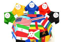 概念性图象国际关系 免版税库存照片