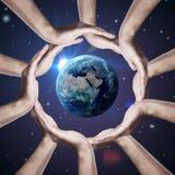 概念性地球符号 免版税库存图片