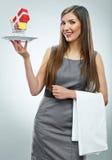 概念性女商人画象 免版税图库摄影