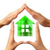 概念性家庭符号 免版税库存图片