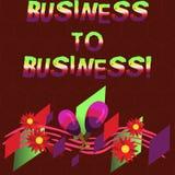 概念性手文字显示企业间 陈列一事务的企业照片做一个商业成交 皇族释放例证