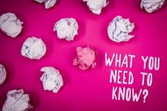 概念性手文字陈列什么您需要认识问题 企业照片文本教育开发您的知识和技能我 免版税库存照片
