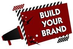 概念性手文字陈列修造您的品牌 企业照片文本做一个商业身分营销广告倍数 皇族释放例证