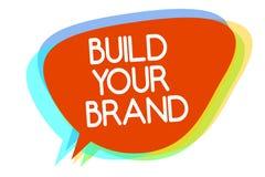 概念性手文字陈列修造您的品牌 企业照片陈列做一个商业身分营销广告Mul 皇族释放例证