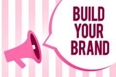 概念性手文字陈列修造您的品牌 企业照片陈列做一个商业身分营销广告Sou 库存例证