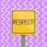 概念性手文字陈列尊敬 深刻的倾慕的企业照片陈列的感觉对某人或某事的 向量例证