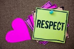 概念性手文字陈列尊敬 深刻的倾慕的企业照片陈列的感觉对某人或某事的Appreciatio 库存照片