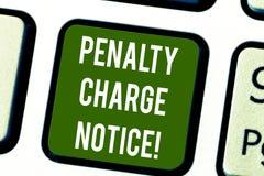 概念性手文字陈列惩罚充电通知 企业照片非常较小的警察发布的文本罚款 向量例证