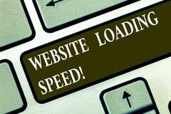 概念性手文字陈列网站装载的速度 企业照片文本时间采取显示a整个内容  向量例证