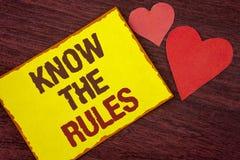 概念性手文字陈列认识规则 企业照片文本了解期限和条件从律师得到法律建议 图库摄影