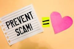 概念性手文字陈列防止诈欺诱导电话 企业照片陈列的消费者保护法欺骗transacti 库存图片