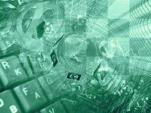 概念性抽象背景构成的计算机 免版税库存照片
