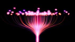 概念性未来派看看事IOT大数据云彩互联网信息技术计算使用人为的 向量例证