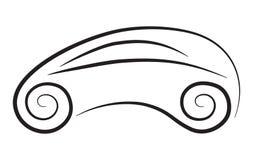 概念性汽车传染媒介剪影  图库摄影