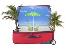 概念性热带假期的全息图 库存图片
