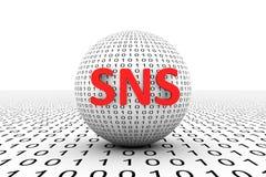 概念性的SNS 向量例证
