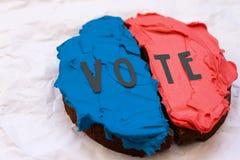 概念性竞选主题的蛋糕 库存照片