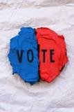 概念性竞选主题的蛋糕 图库摄影