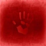 概念性红色被绘的手版本记录 库存图片