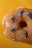 概念性食物成象的警察用多福饼 图库摄影