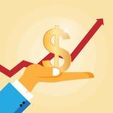 概念性财务增长图象查出的白色 免版税库存图片
