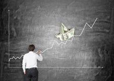 概念性财务增长图象查出的白色 库存图片